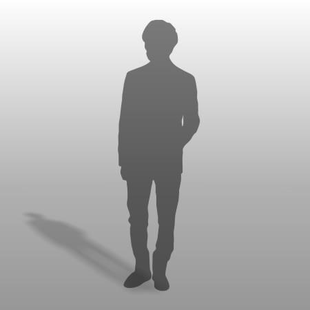 formZ 3D シルエット silhouette 男性 man スーツ ジャケット サラリーマン