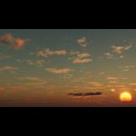 【CG】夕陽と雲の広がる空【背景画像】 sky_0018