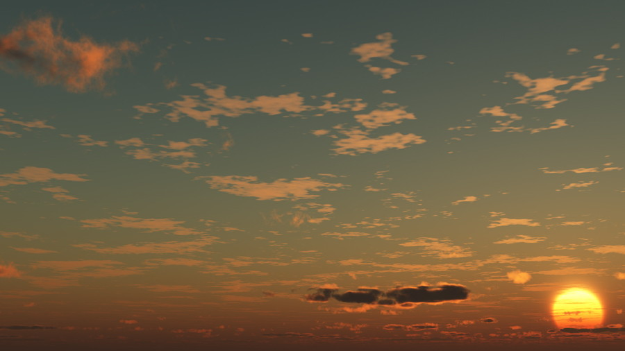 CAD,フリーデータ,2D,CG,背景画像,空,夕暮れ,雲,夕焼け,夕陽,太陽,sky,clouds,sunset