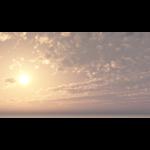 【CG】太陽と雲の広がる空【背景画像】 sky_0019