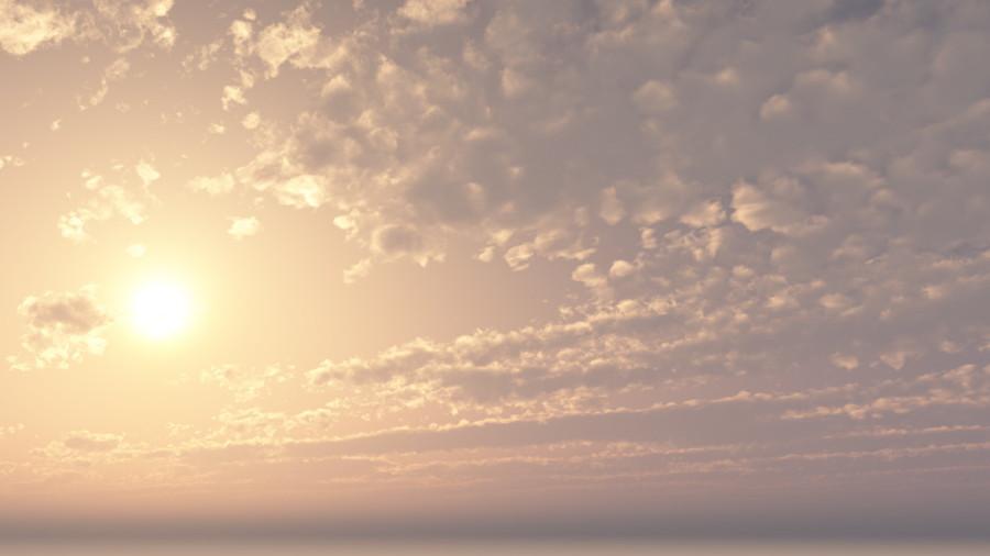 CAD,フリーデータ,2D,CG,背景画像,空,雲,太陽