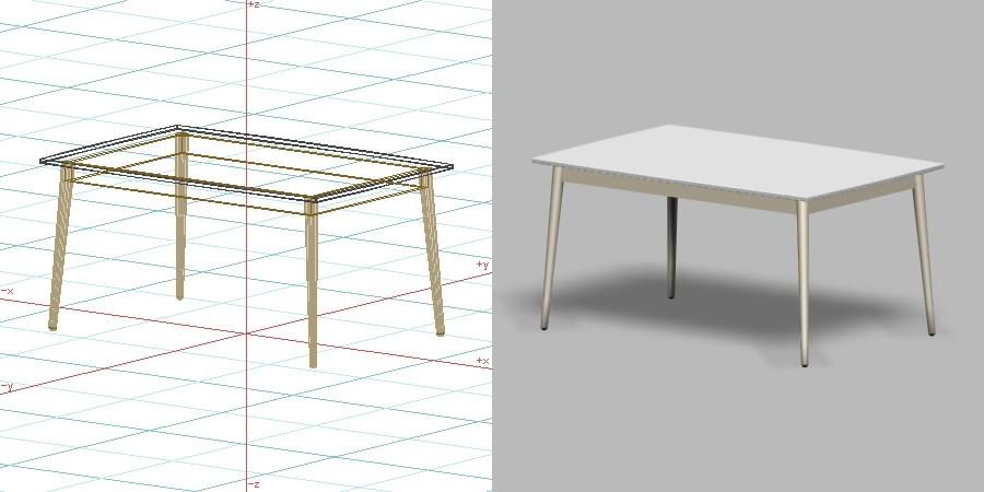 formZ 3D インテリア 家具 机 ダイニングテーブル interior furniture dining table