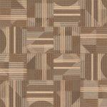【タイルカーペット】模様のある茶色のストライプ柄 (市松貼り)【テクスチャー】 tc_0226