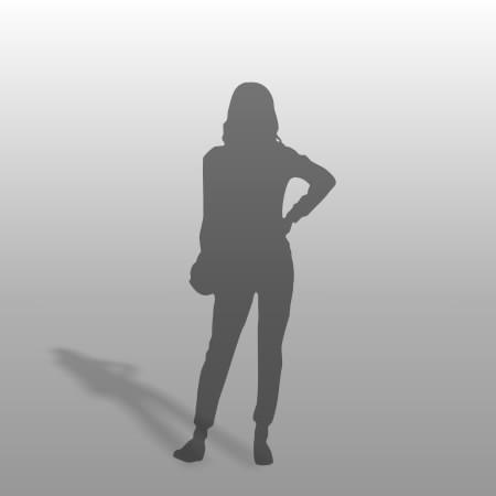 formZ 3D シルエット silhouette 女性 ショルダーバッグ 鞄