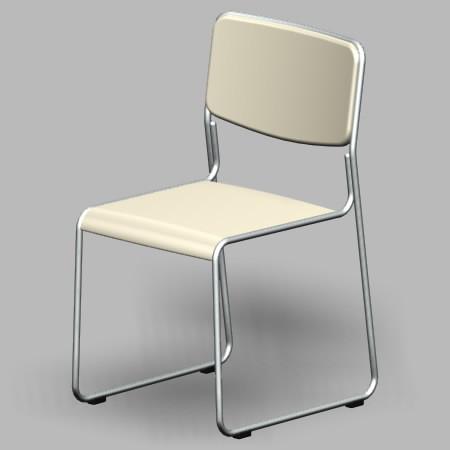 formZ 3D インテリア 家具 椅子 スチールパイプ椅子 interior furniture chair 事務 オフィス家具 業務用 イス