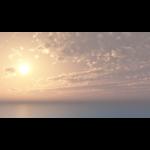 【CG】海と太陽と 雲の広がる空【背景画像】 sky_0022