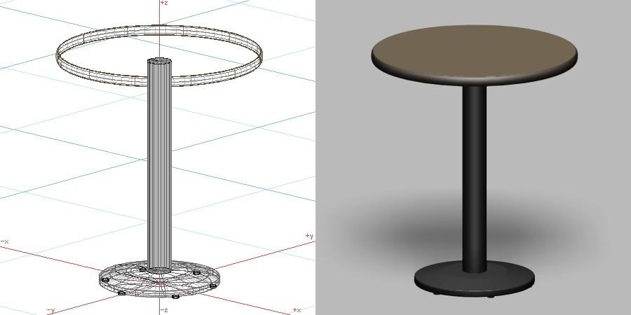 formZ 3D インテリア 家具 机 テーブル interior furniture table 業務用 店舗 カフェ