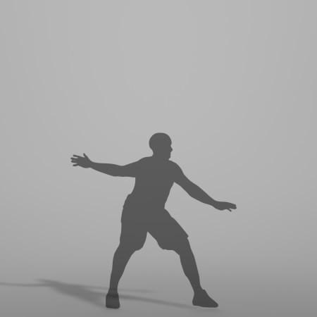 formZ 3D シルエット silhouette 男性 man スポーツ sport バスケット ボール basket ball