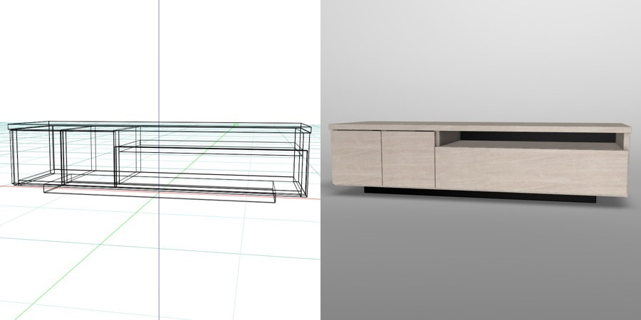 formZ 3D インテリア 家具 棚 テレビラック interior furniture tv rack television rack
