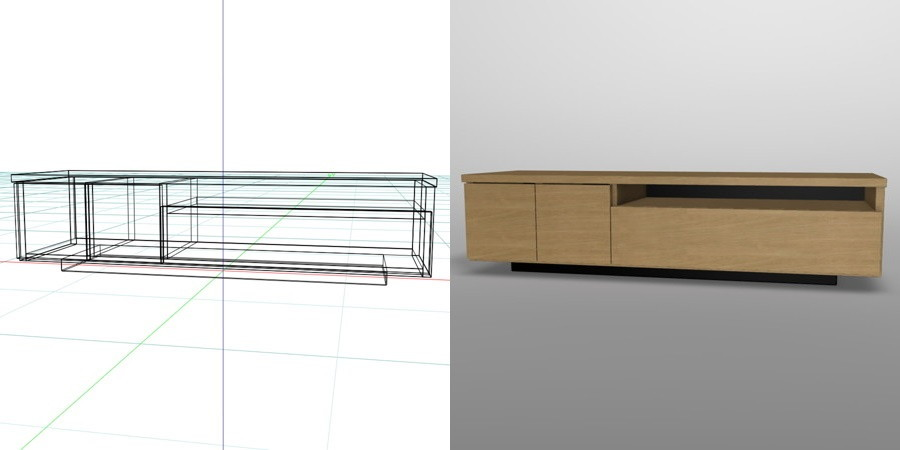 formZ 3D インテリア 家具 棚 テレビラック interior furniture tv rack television rack
