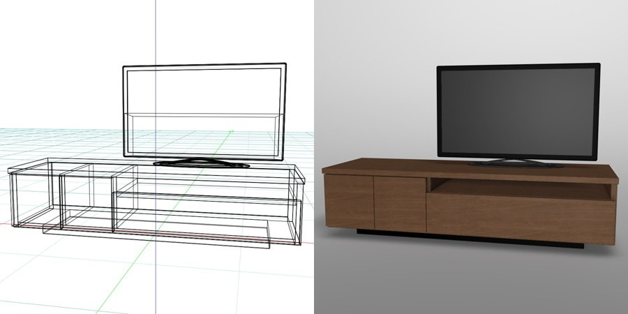 formZ 3D インテリア 家具 interior furniture 棚 テレビラック tv rack television rack 家電製品 consumer electronics テレビ|【無料・商用可】2D・3D CADデータ フリーダウンロードサイト