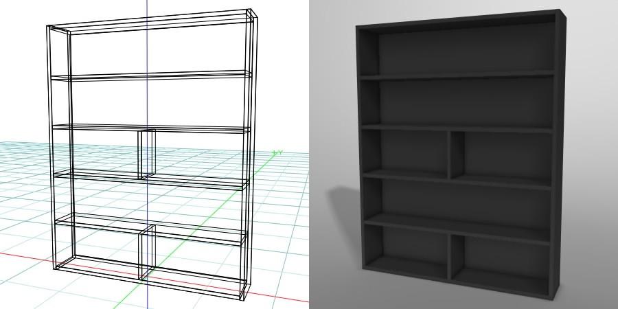 formZ 3D インテリア 家具 棚 本棚 ラック interior furniture rack book shelf