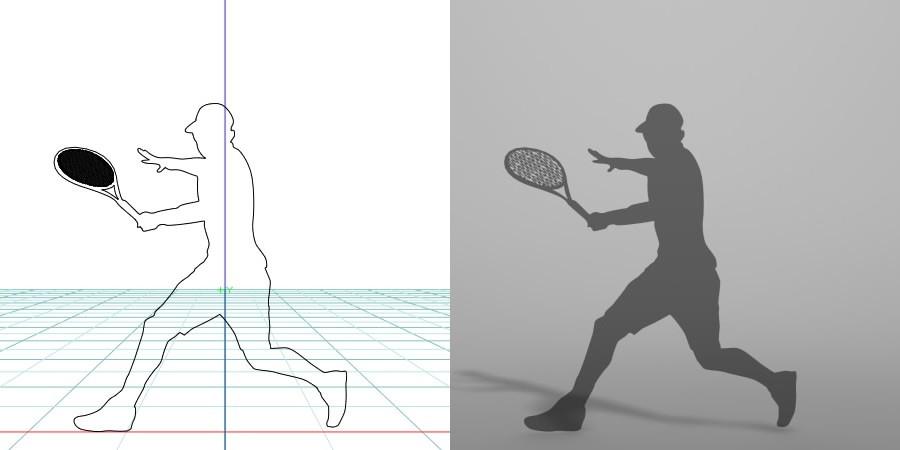 formZ 3D シルエット silhouette 男性 man スポーツ sport テニス tennis