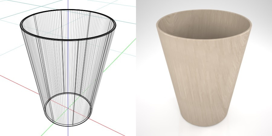 formZ 3D インテリア interior 雑貨 miscellaneous goods ゴミ箱 garbage can