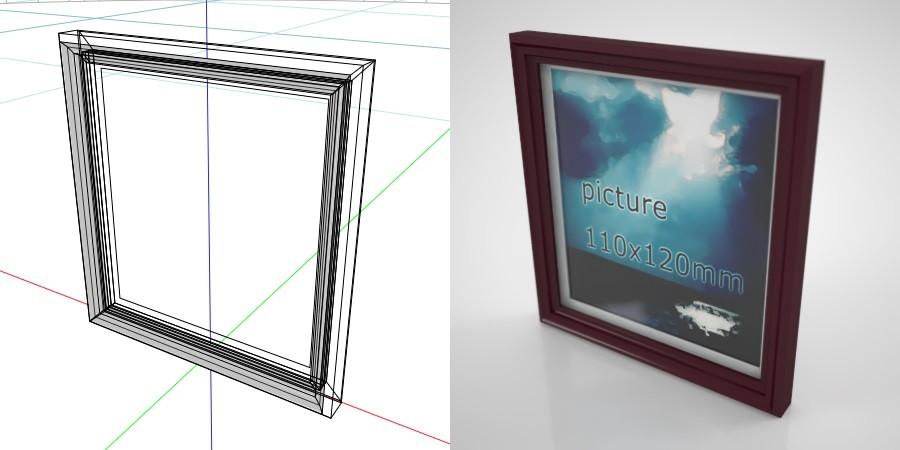 formZ 3D インテリア interior 雑貨 miscellaneous goods 額縁 picture frame ピクチャーフレーム art frame アートフレーム