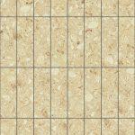 【タイル】クリーム色の石タイル (芋目地)【テクスチャー】 tile_0132
