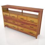 【家具】茶色の木目のリビングボード【formZ】 cabinet_0001