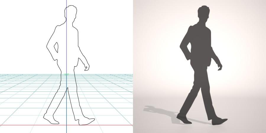 formZ 3D シルエット silhouette 男性 man ジャケット スーツ 背広 business suit