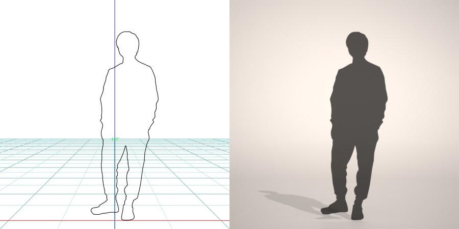 formZ 3D シルエット silhouette 男性 man スウェット