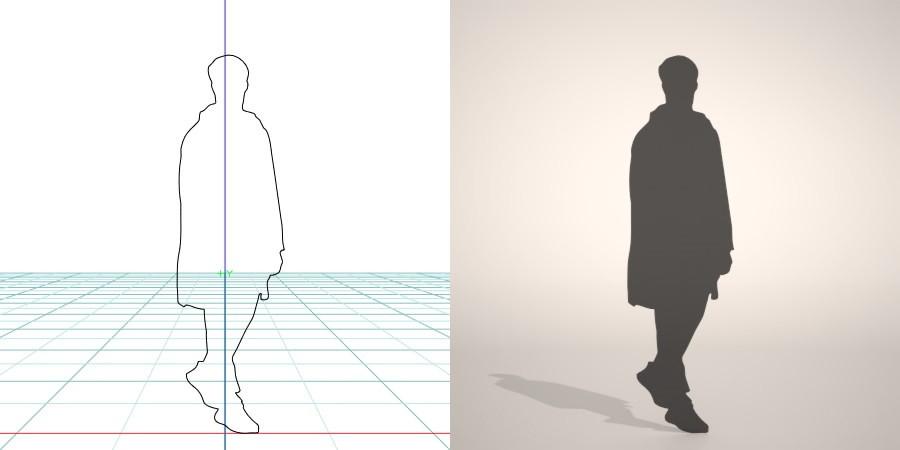 formZ 3D シルエット silhouette 男性 man コート coat