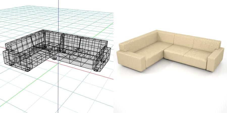 formZ 3D インテリア interior 家具 furniture 椅子 いす イス chair 長椅子 ソファ sofa リビングチェア livingchair