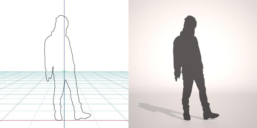 formZ 3D シルエット silhouette 女性 woman female lady スノーブーツ