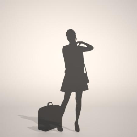 formZ 3D シルエット silhouette 女性 woman female lady 鞄 かばん カバン バッグ bag スカート skirt