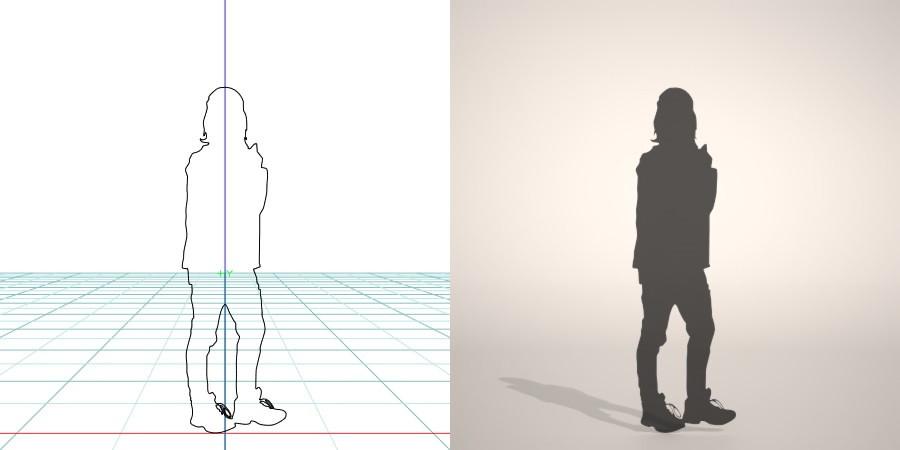 formZ 3D シルエット silhouette 女性 woman female lady ジャケット jacket