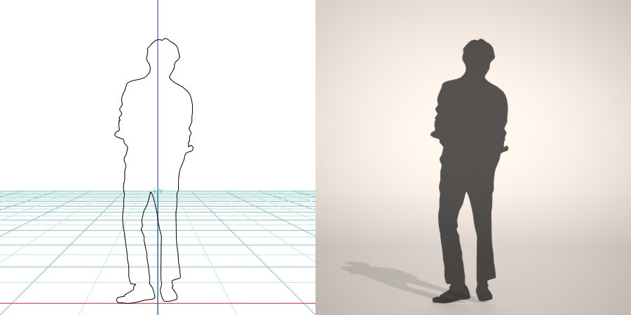 formZ 3D シルエット silhouette 男性 man ジャケット
