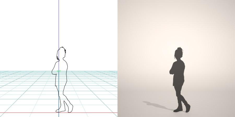 formZ 3D シルエット silhouette 子供 child 少女 girl