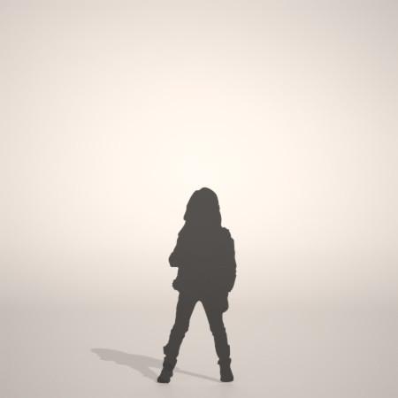 formZ 3D シルエット silhouette 子供 child 少女 girl レザージャケット leather jacket