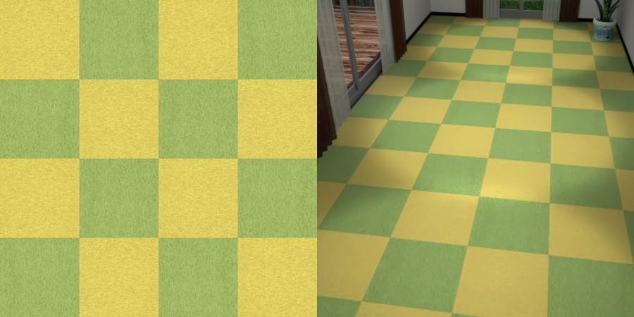 フリーデータ,2D,テクスチャー,texture,JPEG,タイルカーペット,tile,carpet,緑色,green,red,黄色,yellow,市松貼り,2色市松