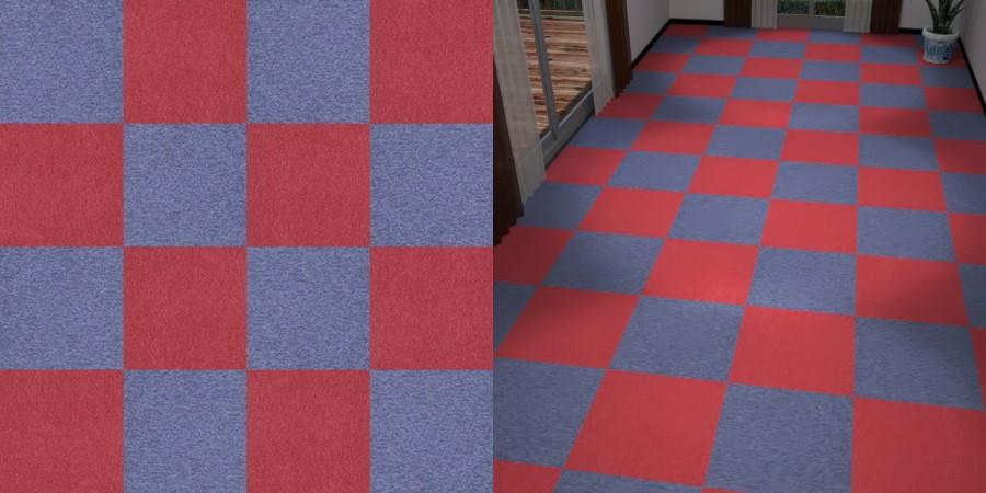 フリーデータ,2D,テクスチャー,texture,JPEG,タイルカーペット,tile,carpet,赤色,red,紫色,むらさき,purple,市松貼り,2色市松