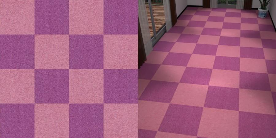 フリーデータ,2D,テクスチャー,texture,JPEG,タイルカーペット,tile,carpet,ピンク色,pink,紫色,むらさき,purple,市松貼り,2色市松