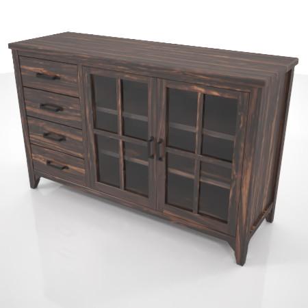 formZ 3D インテリア interior 家具 furniture 棚 ラック rack shelf キャビネット cabinet 飾り棚 リビングボード living カップボード cupboard 食器棚