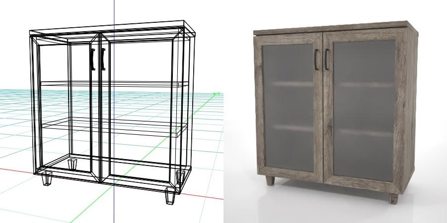 formZ 3D インテリア interior 家具 furniture 棚 ラック rack shelf キャビネット cabinet 飾り棚 リビングボード living サイドボード