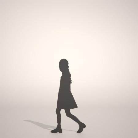 formZ 3D シルエット silhouette 子供 child 少女 girl ワンピース one-piece dress