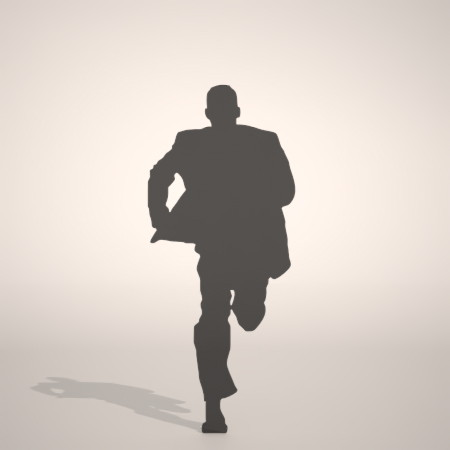 formZ 3D シルエット silhouette 男性 man ジャケット スーツ 背広 business suit 走る running ジャンプ jump 跳ぶ 会社員 ビジネスマン businessman サラリーマン