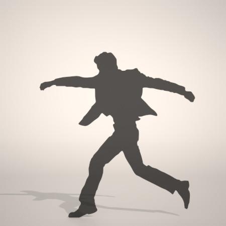 formZ 3D シルエット silhouette 男性 man ジャケット スーツ 背広 business suit 走る running 会社員 ビジネスマン businessman サラリーマン