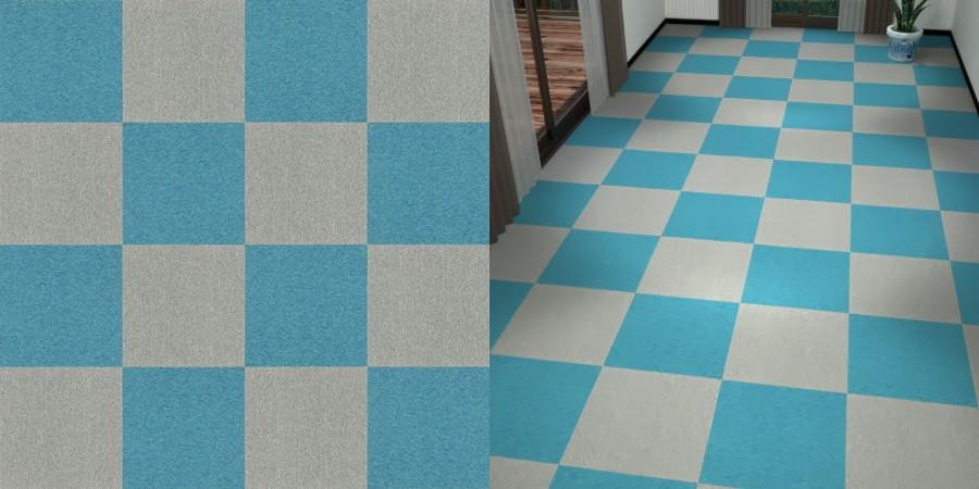 フリーデータ,2D,テクスチャー,texture,JPEG,タイルカーペット,tile,carpet,灰色,グレー,gray,青色,ブルー,blue,市松貼り,2色市松