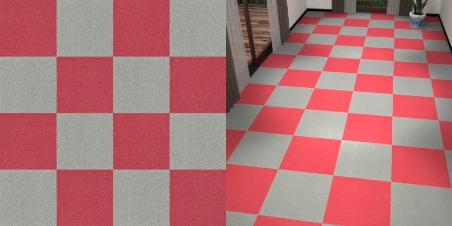 フリーデータ,2D,テクスチャー,texture,JPEG,タイルカーペット,tile,carpet,灰色,グレー,gray,赤色,レッド,red,市松貼り,2色市松