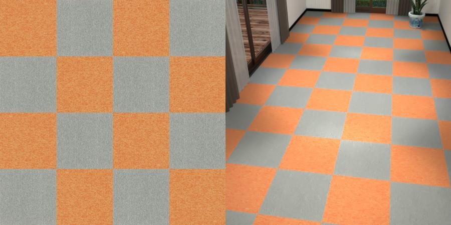 フリーデータ,2D,テクスチャー,texture,JPEG,タイルカーペット,tile,carpet,灰色,グレー,gray,橙色,オレンジ,orange,市松貼り,2色市松