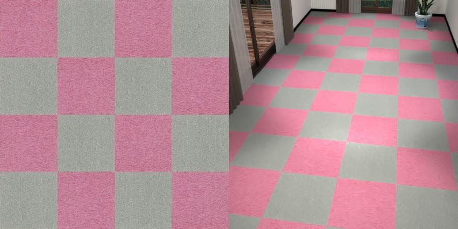 CAD,フリーデータ,2D,テクスチャー,texture,JPEG,タイルカーペット,tile,carpet,灰色,グレー,gray,ピンク色,pink,市松貼り,2色市松