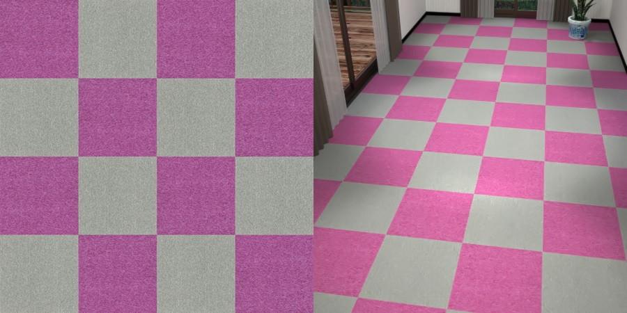 フリーデータ,2D,テクスチャー,texture,JPEG,タイルカーペット,tile,carpet,灰色,グレー,gray,紫色,むらさき,purple,市松貼り,2色市松