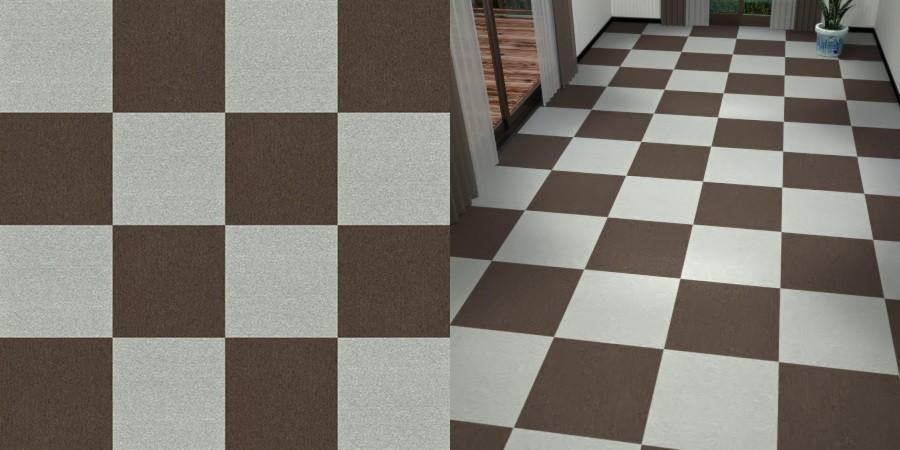 フリーデータ,2D,テクスチャー,texture,JPEG,タイルカーペット,tile,carpet,灰色,グレー,gray,茶色,ブラウン,brown,市松貼り,2色市松