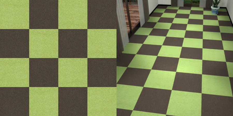 フリーデータ,2D,テクスチャー,texture,JPEG,タイルカーペット,tile,carpet,緑色,みどり,green,茶色,ブラウン,brown,市松貼り,2色市松