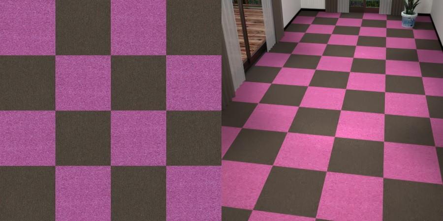 フリーデータ,2D,テクスチャー,texture,JPEG,タイルカーペット,tile,carpet,紫色,むらさき,purple,茶色,ブラウン,brown,市松貼り,2色市松