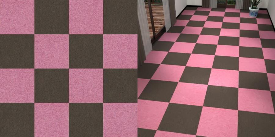フリーデータ,2D,テクスチャー,texture,JPEG,タイルカーペット,tile,carpet,ピンク色,pink,茶色,ブラウン,brown,市松貼り,2色市松