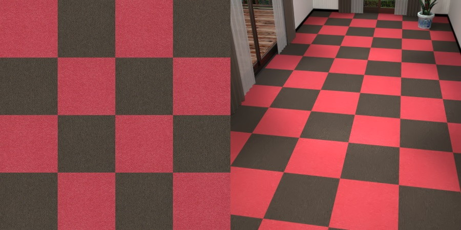 フリーデータ,2D,テクスチャー,texture,JPEG,タイルカーペット,tile,carpet,赤色,red,茶色,ブラウン,brown,市松貼り,2色市松