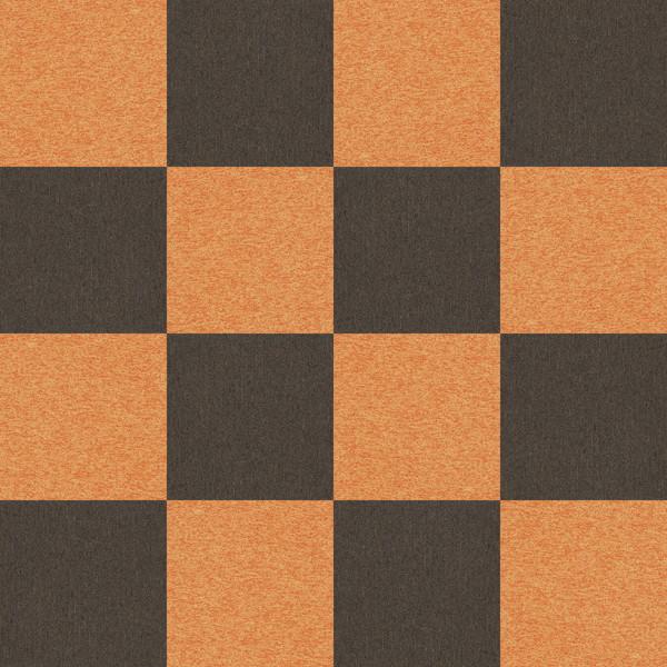 フリーデータ,2D,テクスチャー,texture,JPEG,タイルカーペット,tile,carpet,橙,オレンジ色,orange,茶色,ブラウン,brown,市松貼り,2色市松